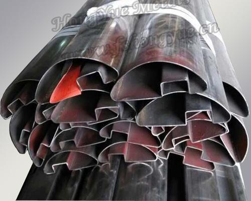 不锈钢半椭圆单槽管