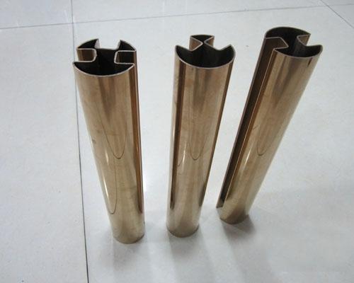 不锈钢双槽管加工