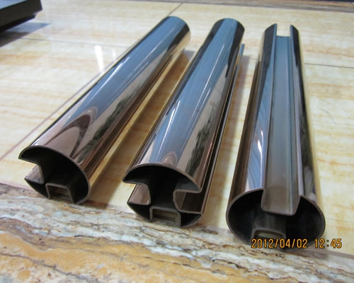 Stainless steel double grooved pipe